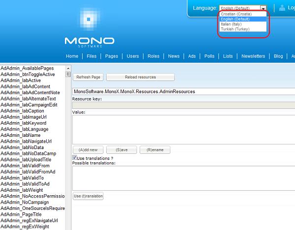 ASP NET localization settings in MonoX